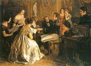 Dom Pedro I compondo o Hino Nacional (hoje Hino da Independência), em 1822