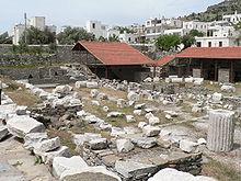 Mausoléu de Maussollos. Ruinas como se encontra nos dias de hoje