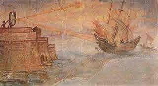 Espelhos Curvos Queimam Navios Romanos