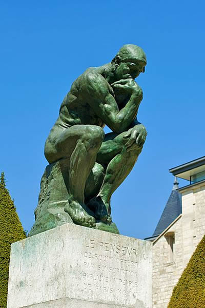 O Pensador, Le Penseur - 1904 Escultura em Bronze, Museu Rodin em Paris
