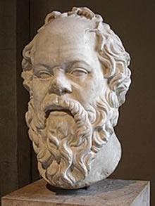 Cabeça de Sócrates. Museu do Louvre.