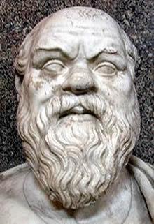 Busto de Sócrates no Museu do Vaticano.