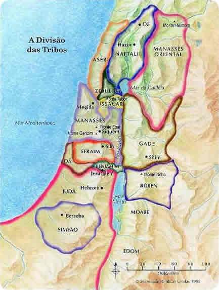Divisão das 12 Tribos de Israel