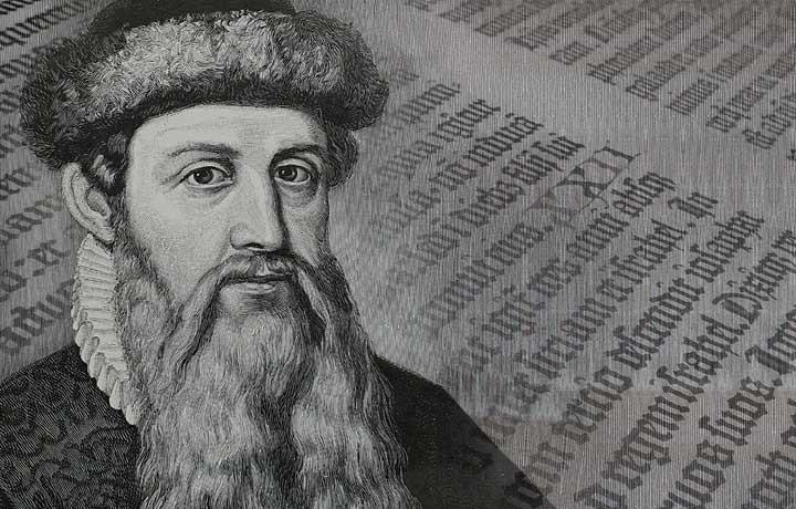 Johannes Gensfleisch zur Laden zum Gutenberg - Os Prelos Manuais