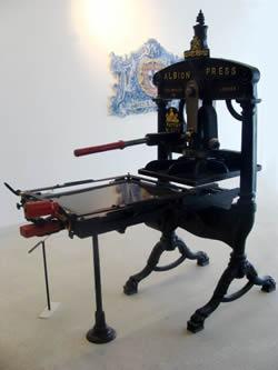 Prelo de impressão manual - Albion Press