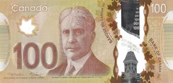 100 Dólares Canadenses - Canadá-CAD