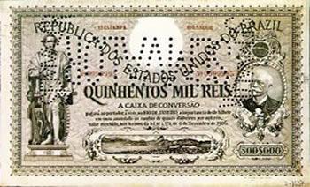 Cédula de 500 mil réis da Caixa de Conversão de 1906